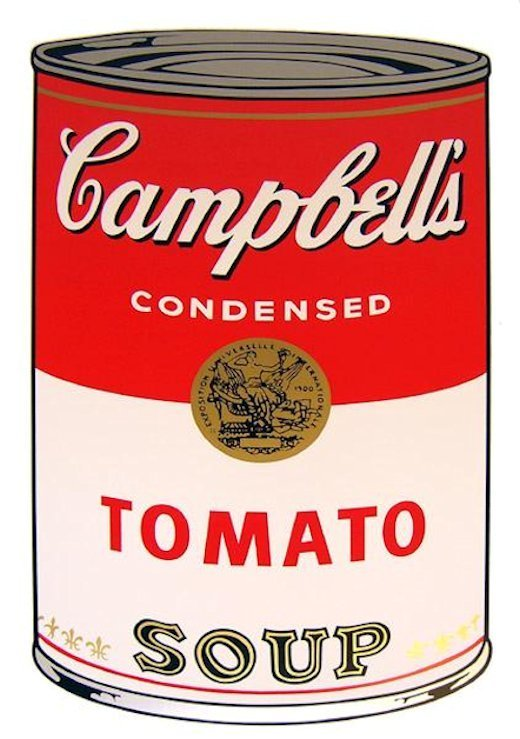 Andy Warhol Campbells Soup Tomato Siebdruck Sunday B. Morning