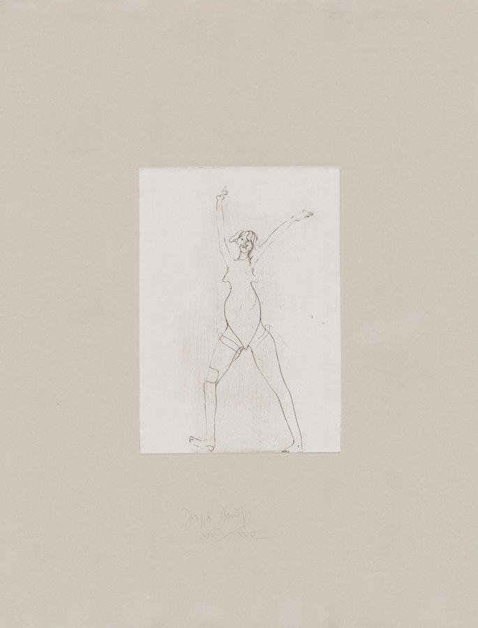 Joseph Beuys Grafik Zirkulationszeit: Mädchen I