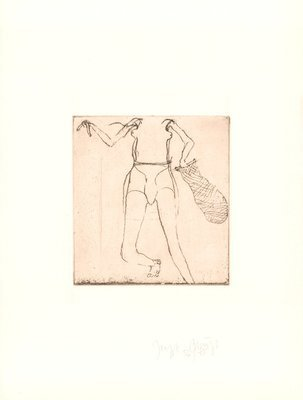 Joseph Beuys Zirkulationszeit: Taucherin Etching