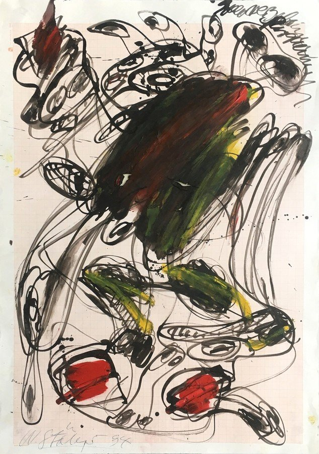 Walter Stöhrer Gouache Untitled II 1994