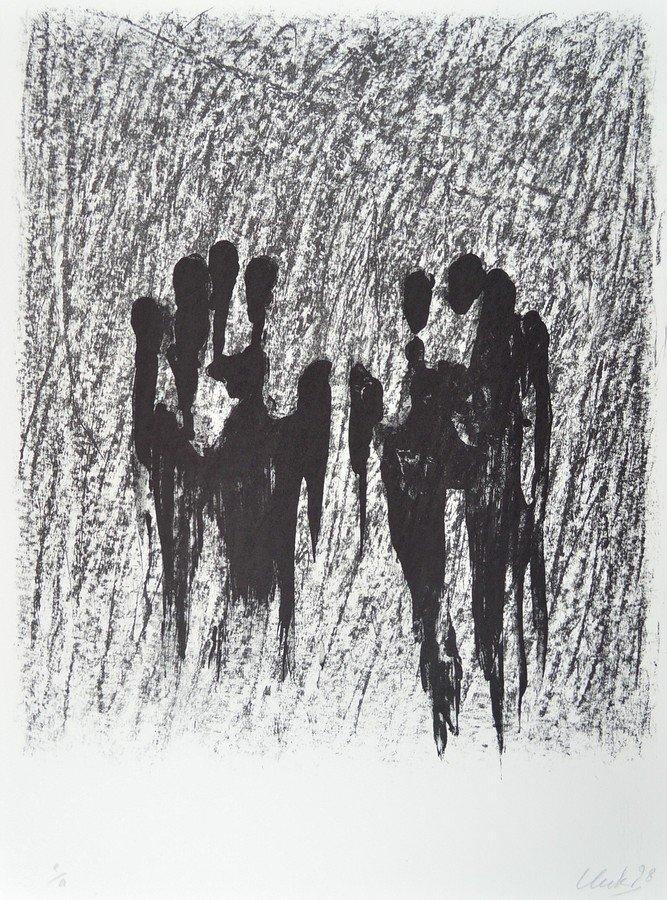 Günther Uecker Original Lithografie Waldshut