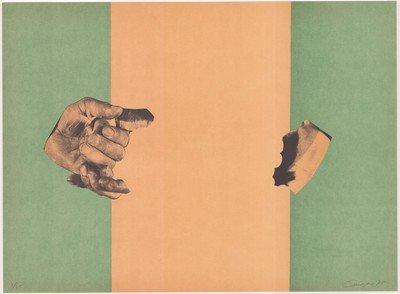 Rafael Canogar Grafik Studie für eine Flagge