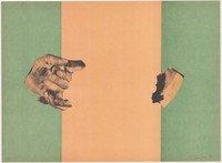 Rafael Canogar Print Studie Für Eine Flagge