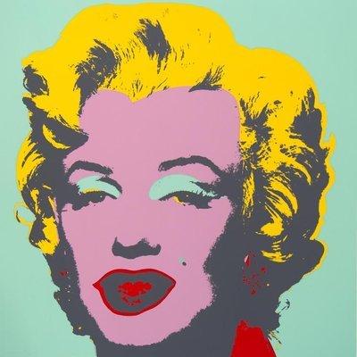 Andy Warhol Marilyn Green Pink Serigraph Sunday B. Morning