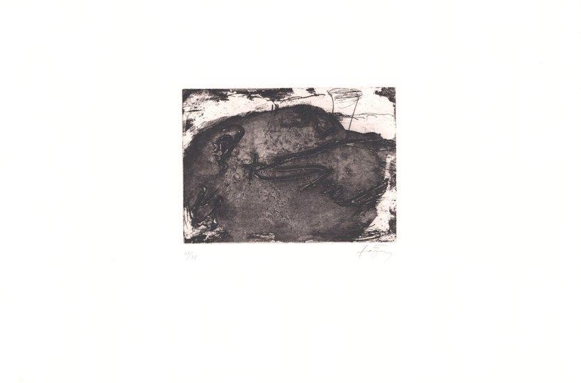 Antoni Tapies Grafik Figura Paisatge