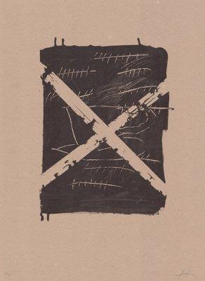 Antoni Tapies Original Print Llambrec Material VIII