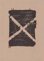 Antoni Tapies Original Grafik Llambrec material VIII