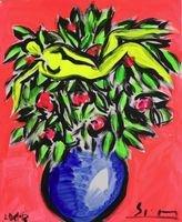 Stefan Szczesny Painting Provence Flowers