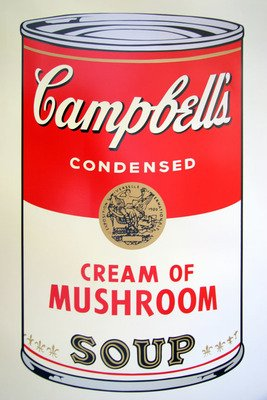 Andy Warhol Campbells Soup Cream Of Mushroom Print Sunday B. Morning