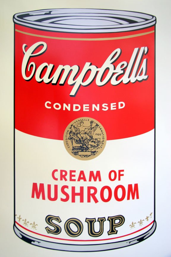 Andy Warhol Campbells Soup Cream Of Mushroom Print Sunday B. Morning