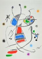 Joan Miro Lithographie Grafik Maravillas 8