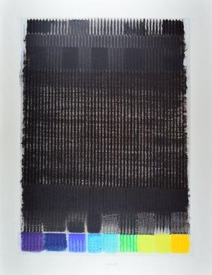Heinz Mack Grafik Siebdruck Februar