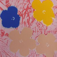 Andy Warhol Flowers Siebdruck Sunday B. Morning Hellblau