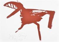 Joseph Beuys Print Zeichen aus dem Braunraum o.T. VII