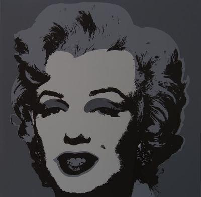 Andy Warhol Marilyn Grey Serigraph Sunday B. Morning