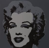 Andy Warhol Marilyn Grey Serigraph Sunday B. Morning
