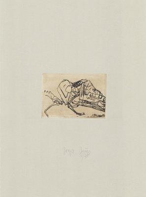 Joseph Beuys Print Tränen: Schafsskelett