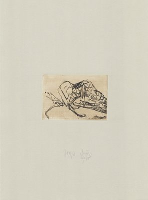 Joseph Beuys Werk Grafik Tränen: Schafsskelett