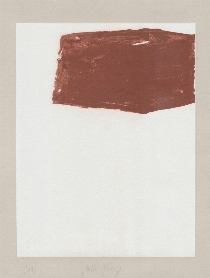 Joseph Beuys Schwurhand: Wandernde Kiste Nr. 2 Druckgrafik