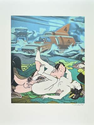 Erro Original Print Lithograph Made in Japan III