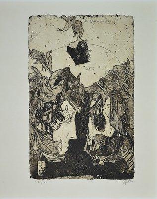 Horst Janssen Print Etching Zu Nigromontanus