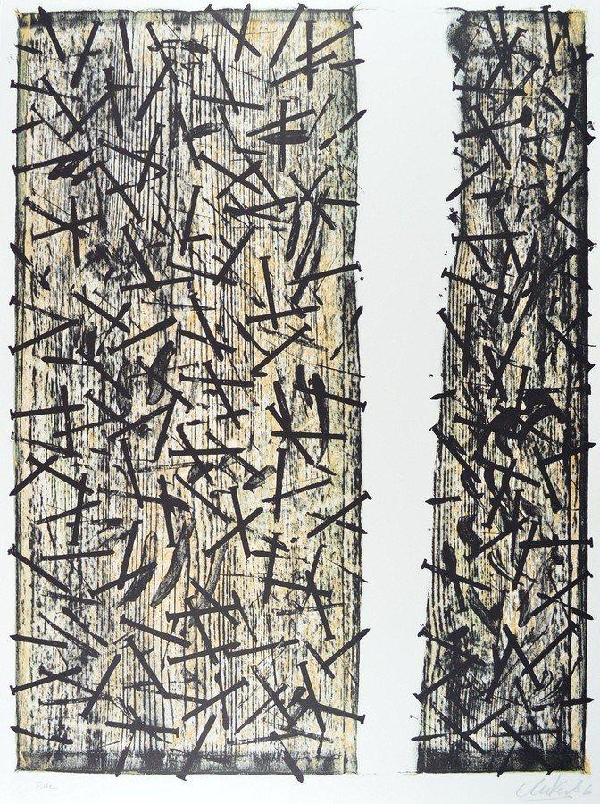 Günther Uecker Lohengrin Original Print