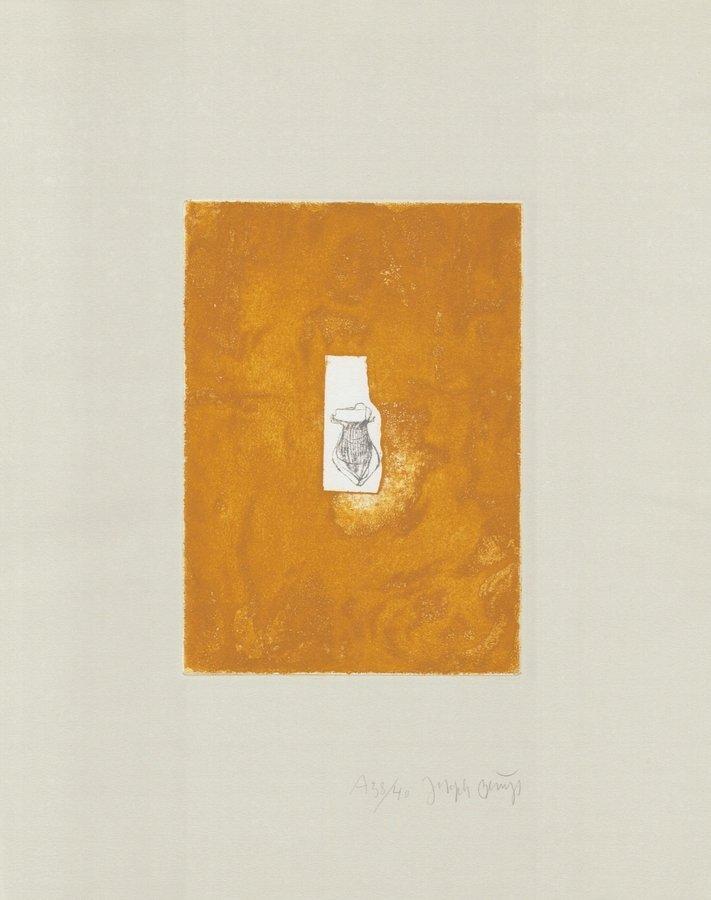 Joseph Beuys Grafik Zirkulationszeit: Honiggefäß A