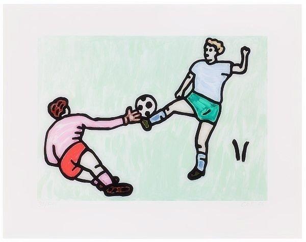 C.O. Paeffgen Fussball Grafik Giclee Druck