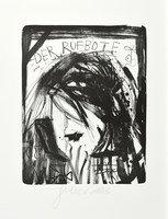 Jonathan Meese Die Saalgöttin Grafik Lithografie