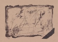 Antoni Tapies Original Print Llambrec Material XI
