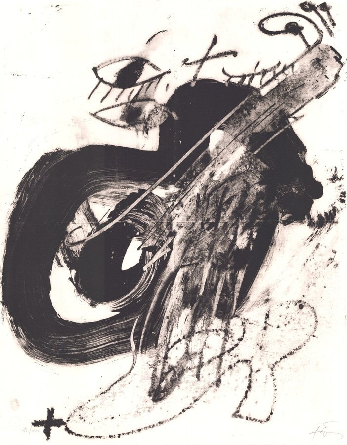 Antoni Tapies Messiaen Grafik