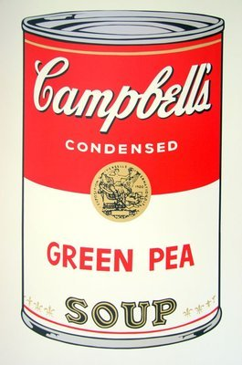 Andy Warhol Campbells Soup Green Pea Serigraph Sunday B. Morning