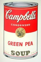 Andy Warhol Campbells Soup Green Pea Serigraph Sunday B. Morning