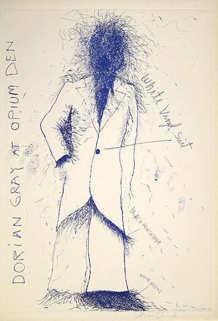 Jim Dine Dorian Gray, Opium Grafik Lithographie