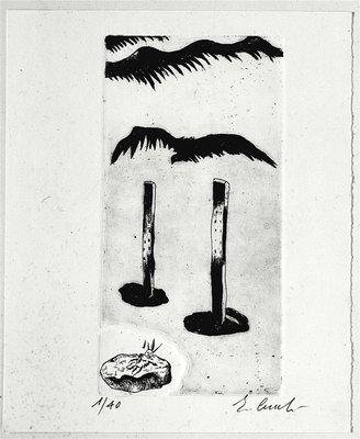Enzo Cucchi Grafik Radierung Untitled (1986)