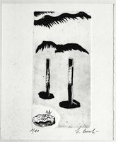 Enzo Cucchi Print Etching Untitled (1986)