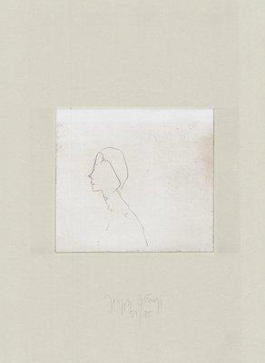 Joseph Beuys Zirkulationszeit: Kopf H.B. Grafik