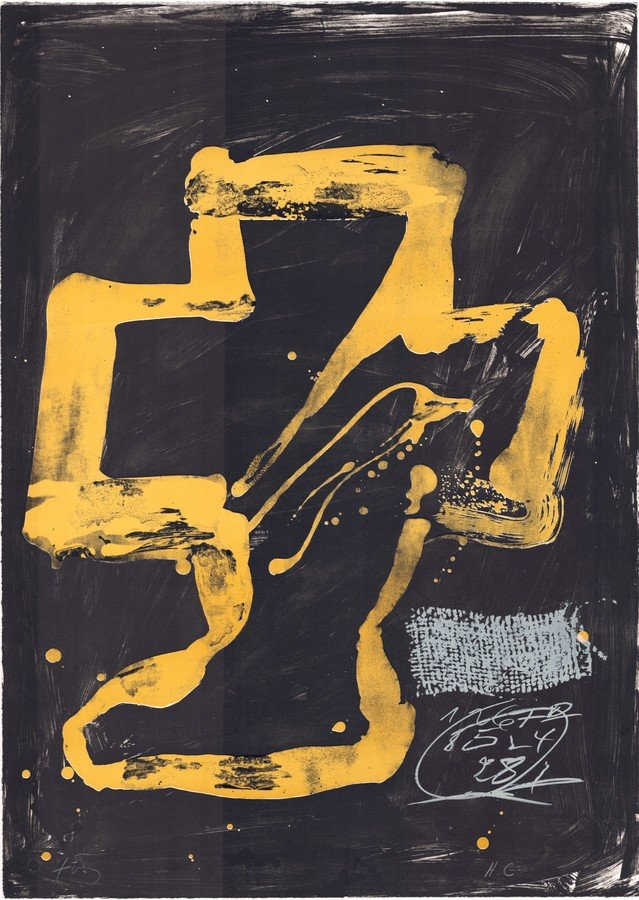 Antoni Tapies Druckgrafik Variations XI: Personnage assis