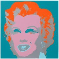 Andy Warhol Marilyn Orange Turquoise Serigraph Sunday B. Morning