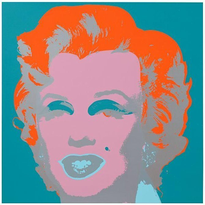 Andy Warhol Marilyn Orange Türkis Siebdruck Sunday B. Morning