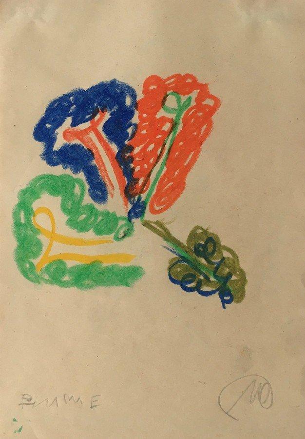 Markus Lüpertz Flower Drawing