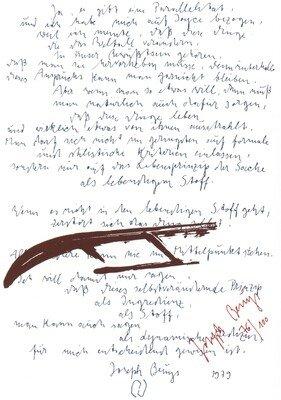 Joseph Beuys Print Serigraph Joyce mit Schlitten