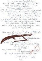 Joseph Beuys Grafik Siebdruck Joyce mit Schlitten