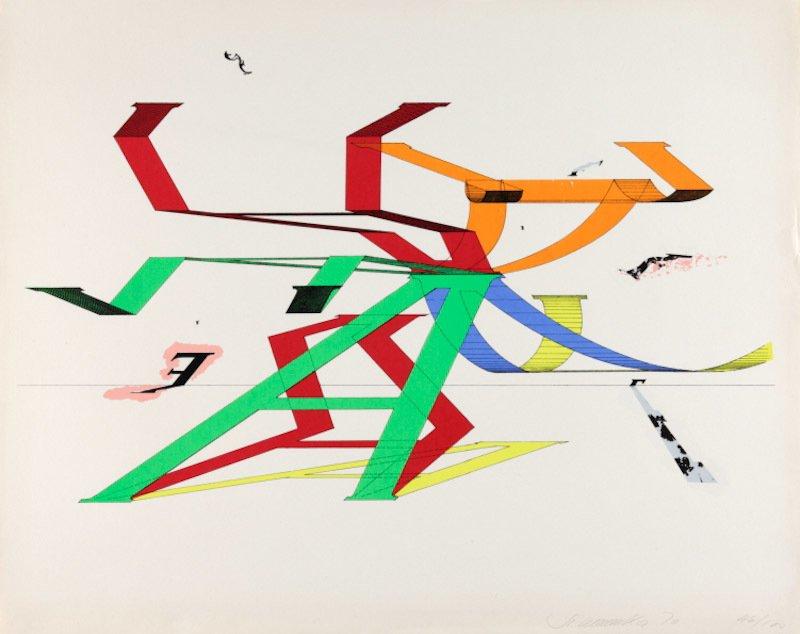Stefan Wewerka Grafik Siebdruck A-Variations