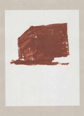 Joseph Beuys Grafik Schwurhand: Wandernde Kiste Nr. 1
