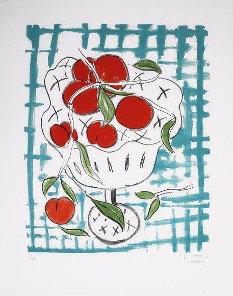 Stefan Szczesny Lithographie Peach Still Life