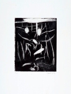 Georg Baselitz Print Aquatint Rimbaud