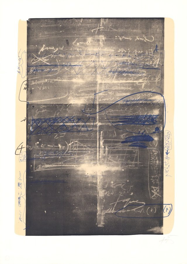 Antoni Tapies Lithograph Oevre grave