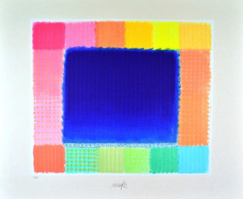 Heinz Mack Blue Field 2016 Print Serigraph