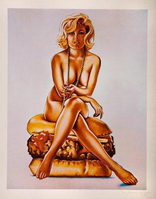 Mel Ramos Virnaburger Lithografie Grafik